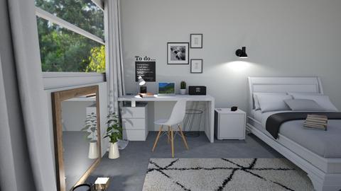 scandinavian bedroom_KS - Bedroom  - by KathyScott