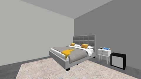 Mias Yellow accent room - Bedroom  - by zeppmia4