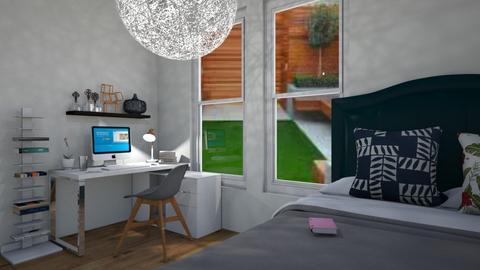 cuarto con v a jardin - Bedroom  - by Isa  cuartos
