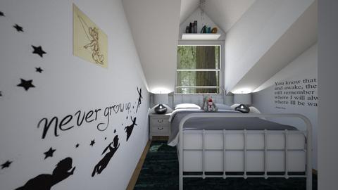 Farmhouse Attic - Bedroom  - by SammyJPili