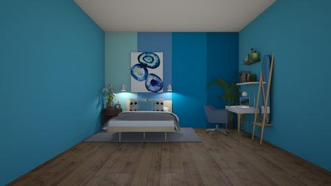 Shades of Blue - Modern - Bedroom  - by deleted_1608461481_the_curious_desi
