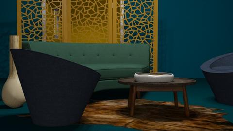 bluest dusk - Eclectic - Living room  - by vassilianna