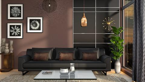 M_Black and brown - Living room  - by milyca8