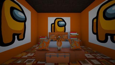 orange among us bedroom - Bedroom  - by crying_room
