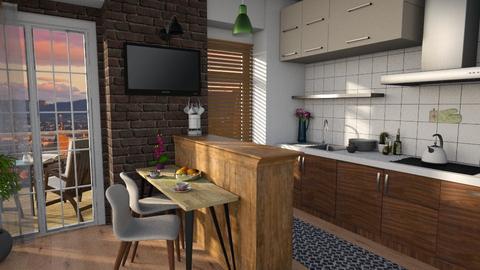 Swedish simplicity - Kitchen  - by Inna_Inas