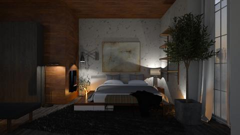 WOOD AND CONCRETE - Bedroom  - by zarky