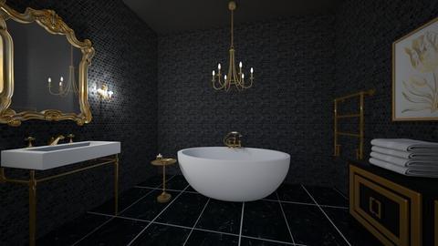 dramatic bathroom - Bathroom  - by erladisgudmunds