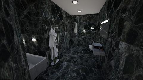 Black marble bathroom - Glamour - Bathroom  - by Merily