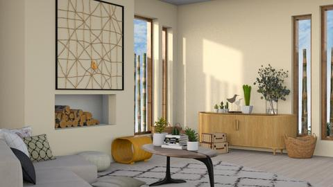 Japandi_Contest_ - Modern - Living room  - by CitrusSunrise