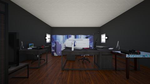 logans gaming room - Eclectic - Bedroom  - by logan185sams