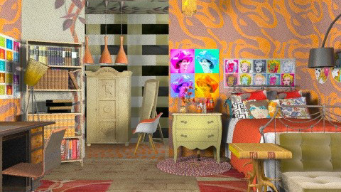 pop teen bedroom - Retro - Bedroom  - by Ariadne491