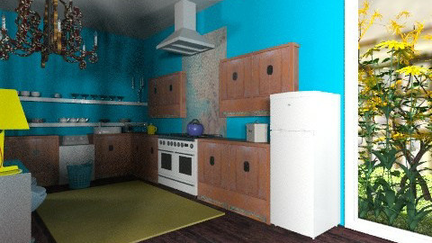 Yellow rug - Eclectic - Kitchen  - by mrschicken