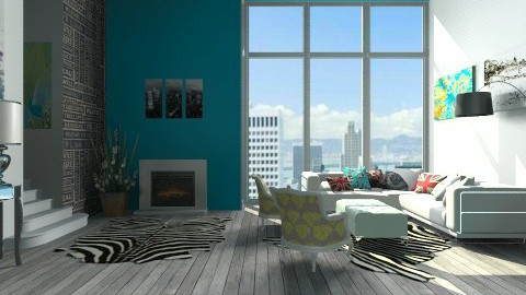 depto industrial - Retro - Living room  - by Joseph Espinoza