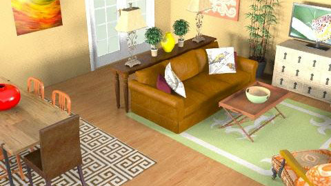 Living Room 2 - Eclectic - Living room - by MCalderon