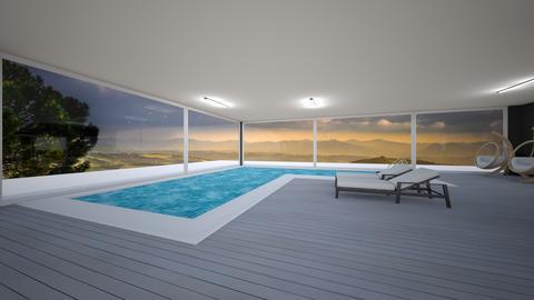 Mansion indoor pool  - by saratevdoska