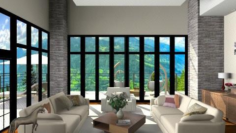 Treatments tall windows - Modern - Living room  - by anjuska9