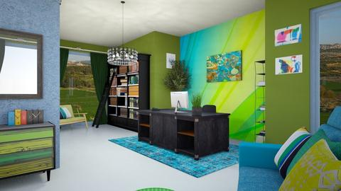 multicolor office - Modern - Office  - by zayneb_17