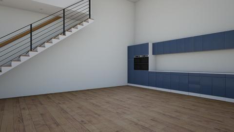 kitchen apmartment blue - Kitchen  - by freewillie