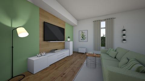 sofa green - Living room  - by elisawww