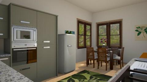 Designer Home - kitchen - Rustic - Kitchen  - by allday08