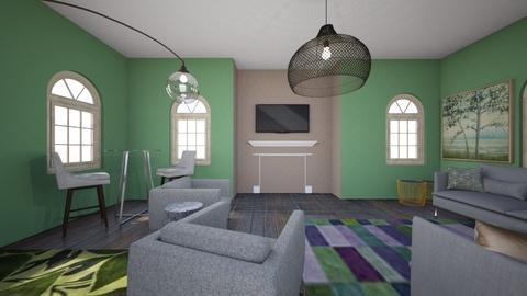 monochromatic - Living room  - by katiejoni