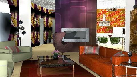 Modern retro - Retro - Living room  - by bizarrrr