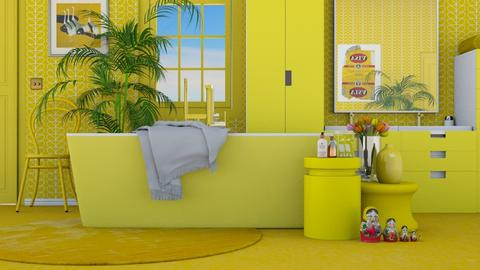 Bathing in yellow - Retro - Bathroom  - by HenkRetro1960