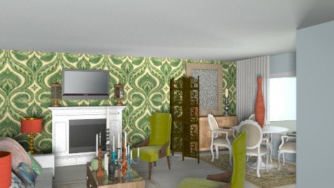 livingroom makeover - Vintage - Living room  - by Rechoppy92