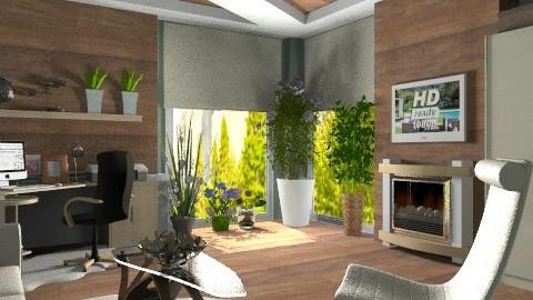 Home office - Modern - Office  - by KittiFarkas