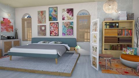 Playful modern bedroom - Bedroom - by Moonpearl