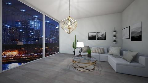 Modern condo and view - Living room - by Abbs33