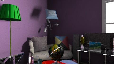 full blacklight room - Retro - Bedroom  - by littleharbor