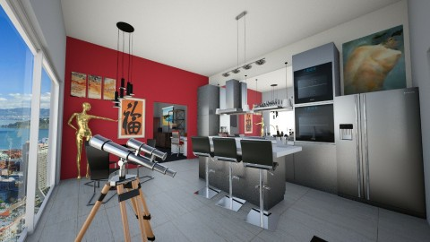 Loft A1 With bed and Bath - Eclectic - Kitchen  - by Quen