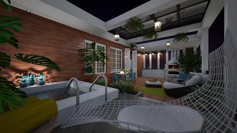 rooftop terrace - Garden  - by rosanebpf