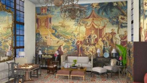 Chinoiserie Chic!! - Classic - Living room  - by AlSudairy S