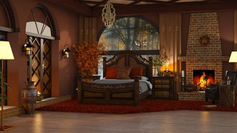 Autumn Bedroom - Rustic - Bedroom  - by ZsuzsannaCs