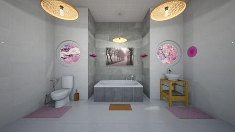 Cherry Tree Bathroom - Bathroom  - by Hersheys