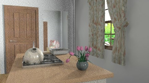 3 attempt at kitchen - Country - Kitchen  - by Gina Scowen