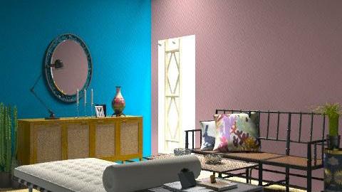 Azul y Rosa - Retro - Living room  - by minerva8a