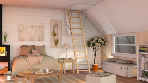 Winter in the Attic - Eclectic - Living room - by Sally Simpson