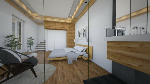 Basement bedroom - Modern - by liling