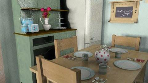 SingletonBreakfastRoom - Country - Kitchen  - by Cat Envis