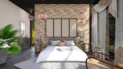 M_ Antique and modern - Bedroom - by milyca8