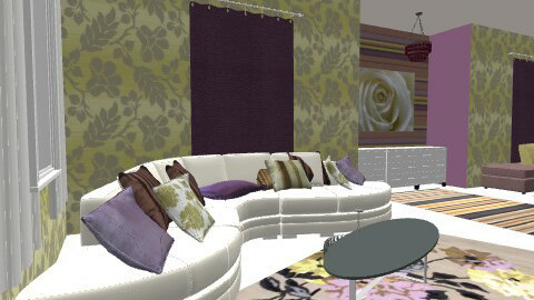 gold and mov - Glamour - Living room  - by chania