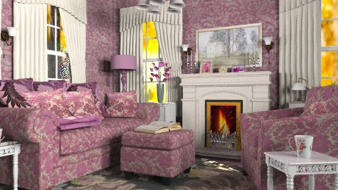 Cosy Corner - Vintage - Living room  - by Bibiche
