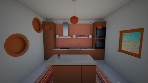 orange kitchen - Kitchen - by lokneszikolbasz