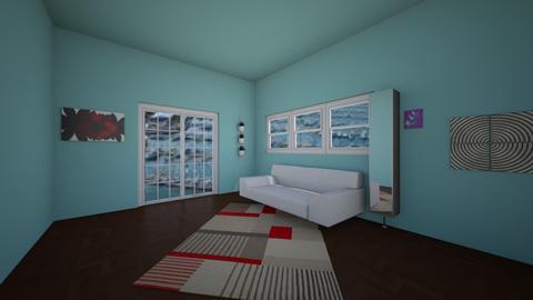 Blue Modern - Modern - Living room - by Tigerstar101