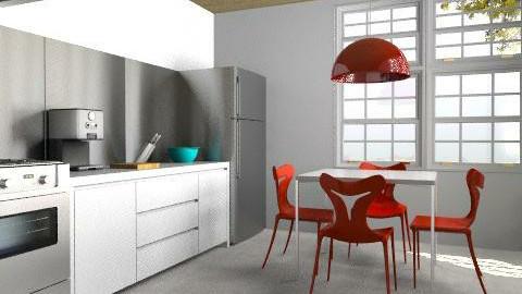 White + Red Kitchen - Modern - Kitchen  - by 3rdfloor