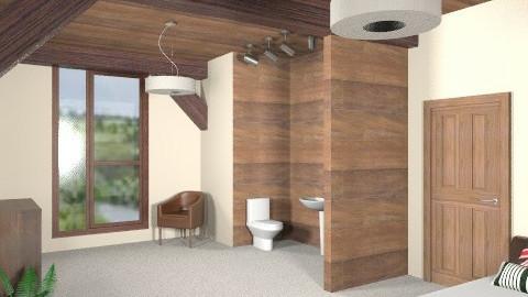 Attic Bedroom - Minimal - Bedroom  - by CassW