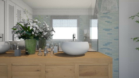 Banheiro panoramico - Bathroom  - by Sanare Sousa